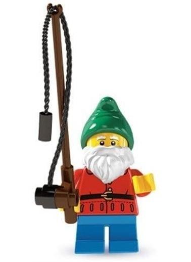 Lego Lego Minifigür - Seri 4 - 8804 - Lawn Gnome Renkli